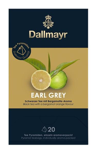 Dallmayr Earl Grey Schwarzer Tee mit Bergamotte - Aroma 20x2,5g