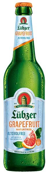 Lübzer Grapfuit Alkoholfrei 6er Pack 24x0,33 l