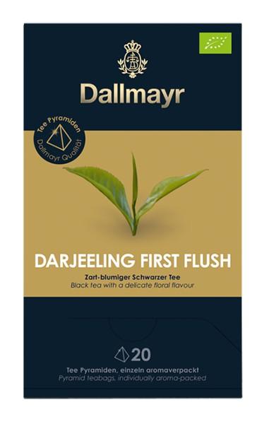 Dallmayr Darjeeling First Flush Bio Zart-blumiger Schwarzer Tee 20 x 2,5g