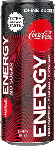 Coca Cola Energy ohne Zucker 12x0,25 l