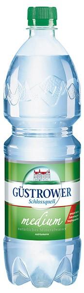 Güstrower Schlossquell Mineralwasser Medium12x1 l
