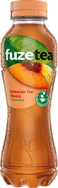 Fuze Tea Schwarzer Tee- Pfirsich 12x0,4 l