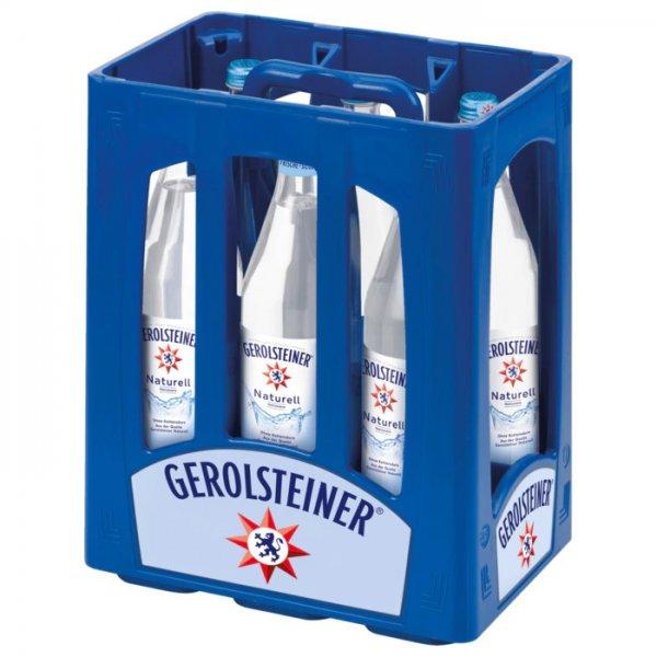 Gerolsteiner Naturell Glasflasche 6/1,0l