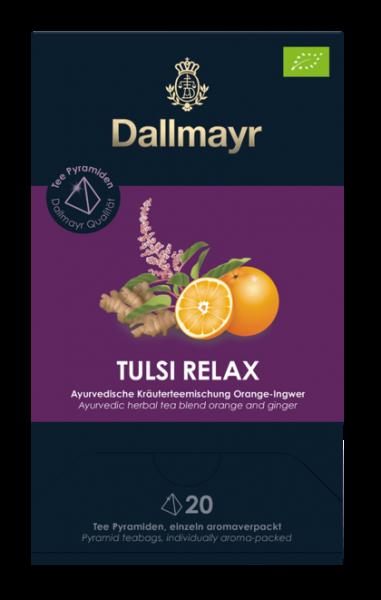 Dallmayr Tulsi Relax Bio Ayurvedische Kräuterteemischung Orange - Ingwer 20 x 2,5g