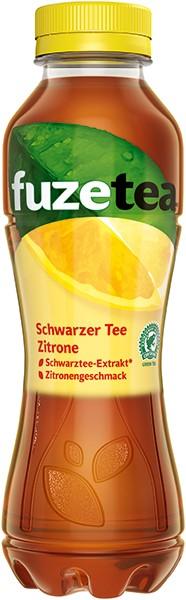 Fuze Tea Schwarzer Tee- Zitrone 12x0,4 l