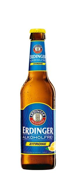 Erdinger Zitrone Alkoholfrei 6er Pack 24x0,33 l